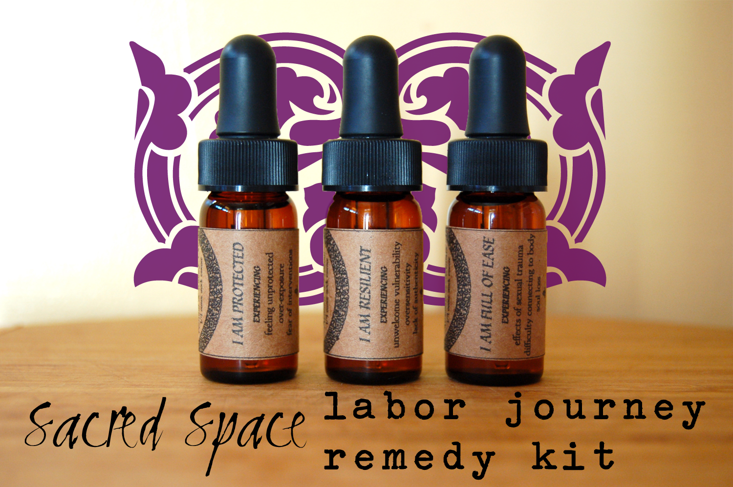 SacredSpace Labor Remedy Kit Birth Doula Flower Essence