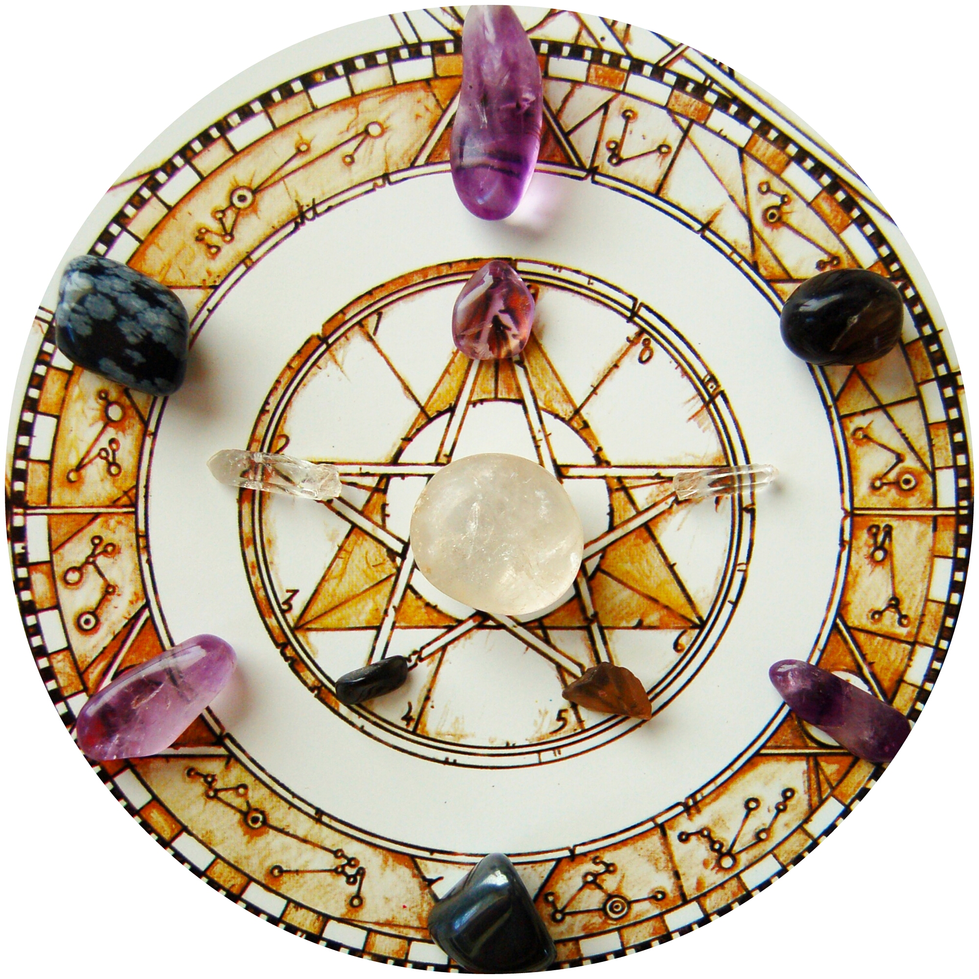 star gem mandala grid crystal astrology