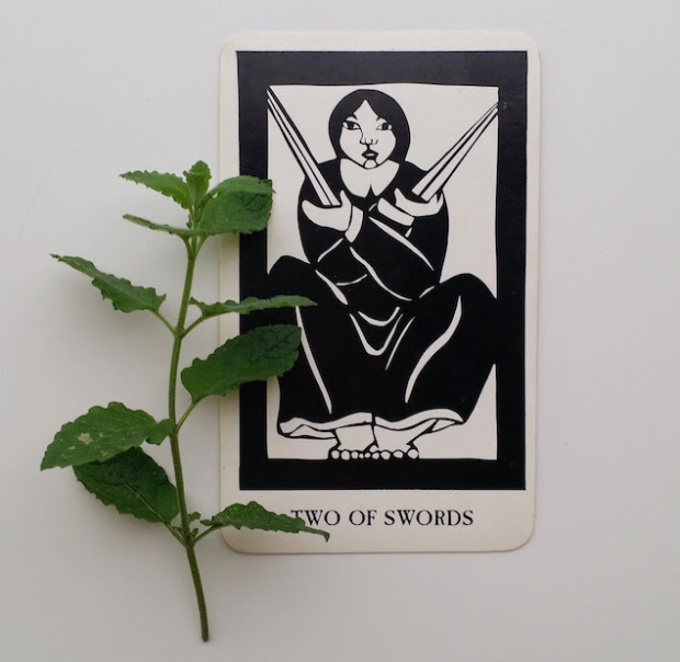 Thea's Tarot  by Ruth West + Peppermint ( Mentha piperita )