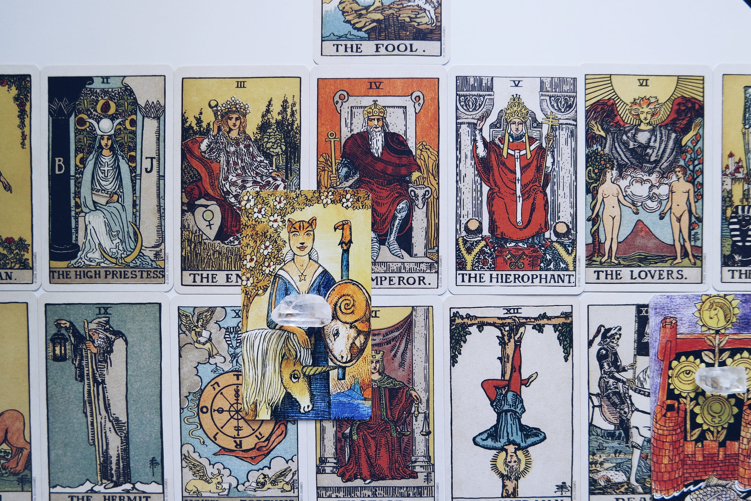 Pamela Colman Smith Centennial Tarot + Jolanda Den Tredjes Tarot or Swedish Witch Tarot