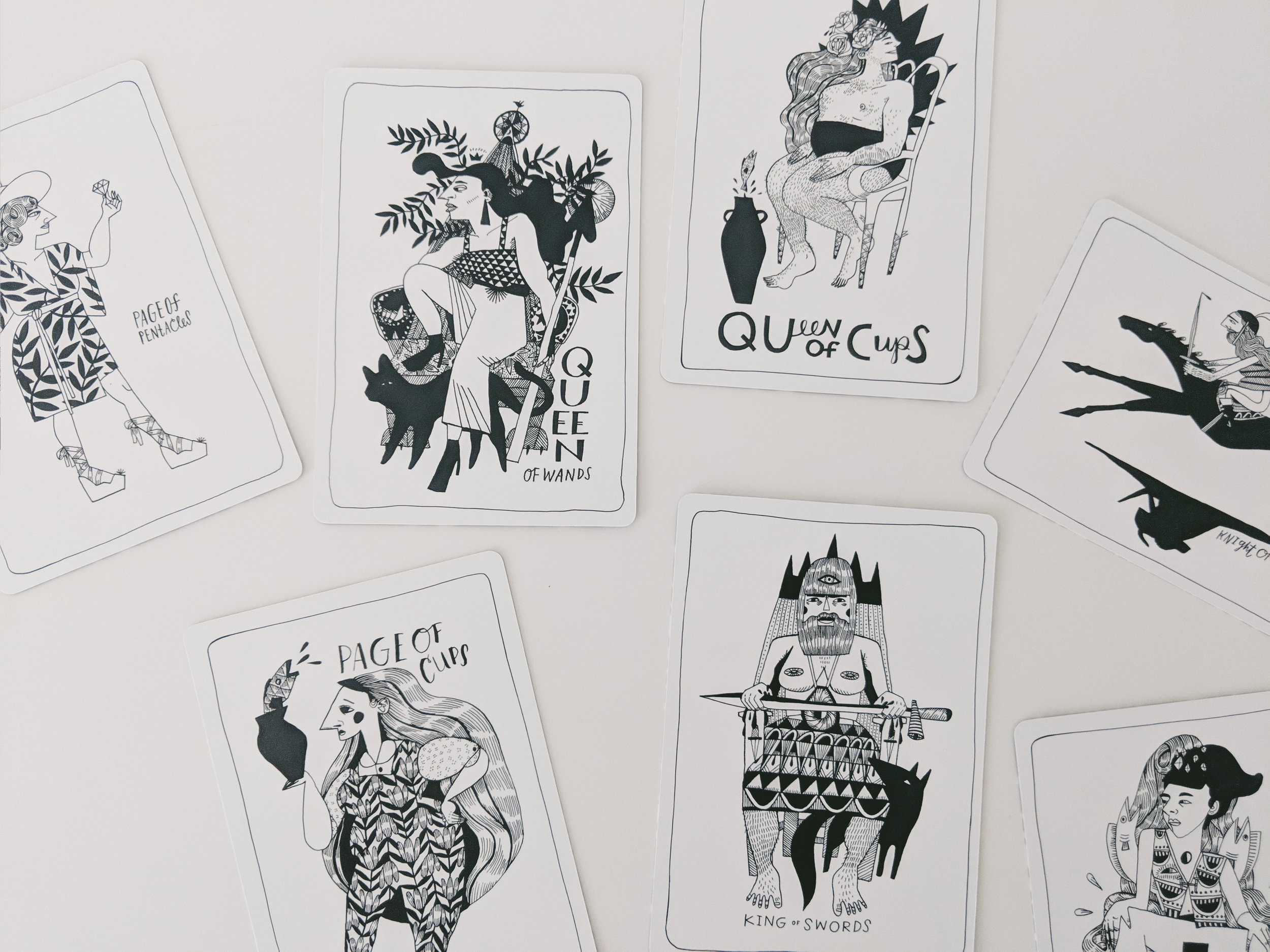 Many Queens Tarot  by Lettie Jane Rennekamp