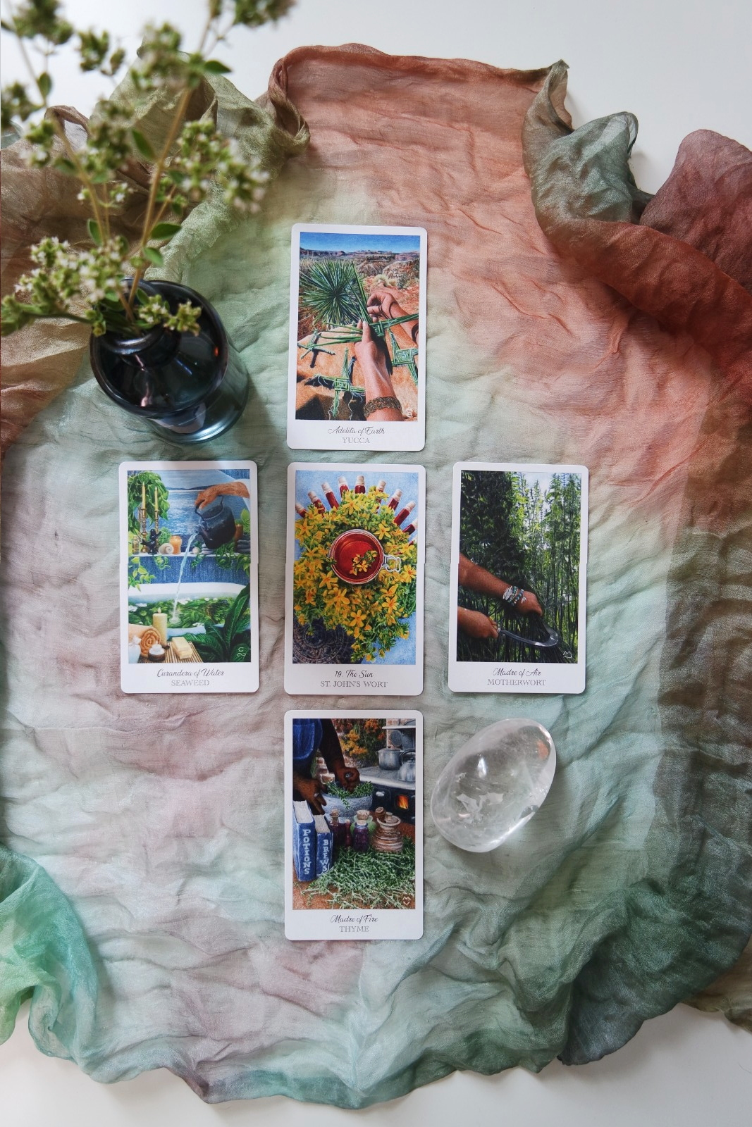 The Herbcrafter's Tarot  by Latisha Guthrie + Joanna Powell Colbert