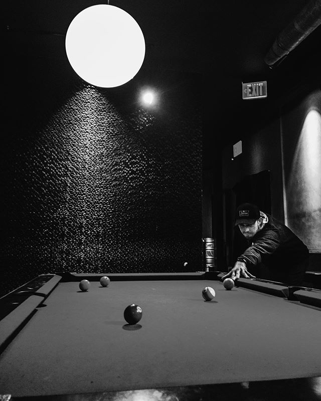 Some is always up for a game of pool and cold one 🍺