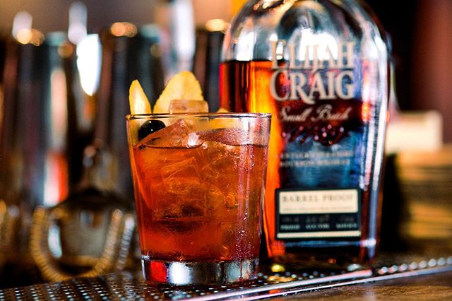 Just and Old Fashioned Friday  #drinkwhiskey #oldfashioned #whiskey #elijahcraigbarrelproof #thebrig #neighborhoodbar