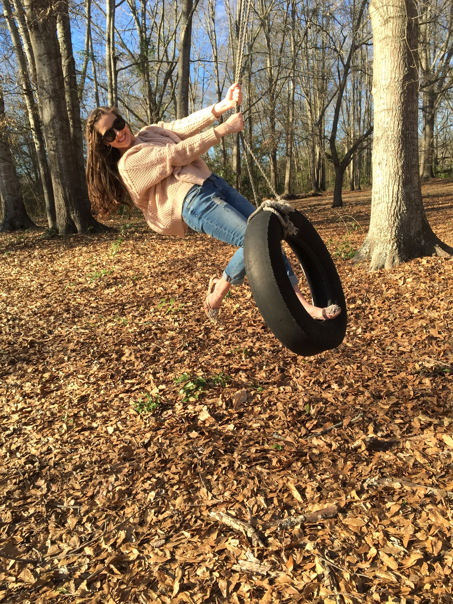 I forgot how much fun tire swings are!!
