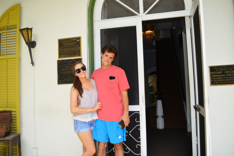 As you can see, David was just as thrilled to be touring Hemingway's House just as much as I was.