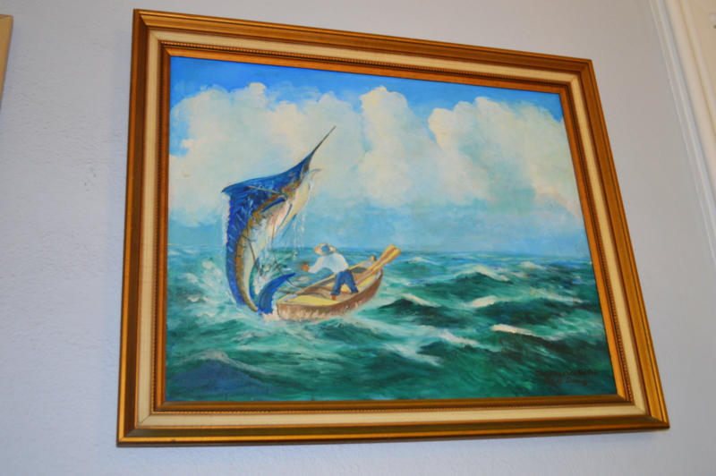 I LOVED this painting that was hanging in the living room!
