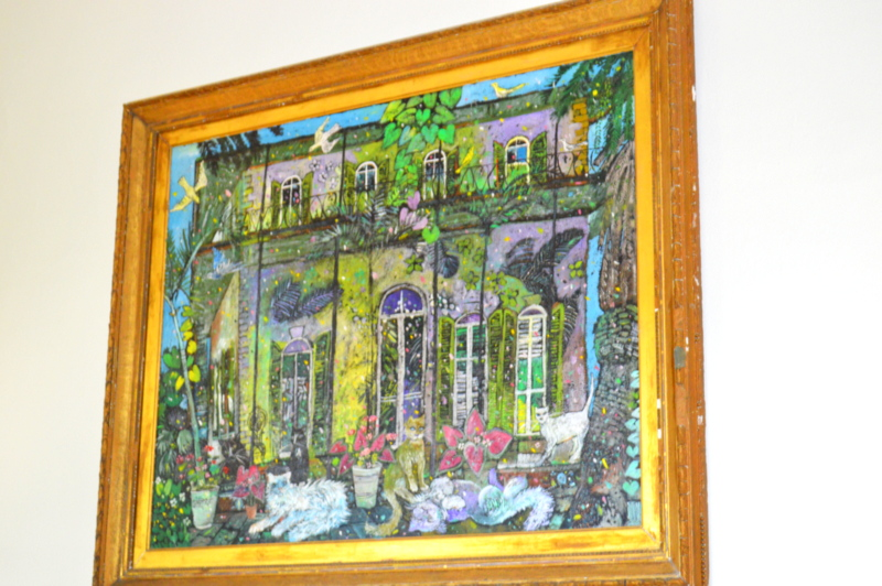 Obsessed with this painting of the house!