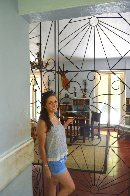 "Another one of those ""had to"" shots...Me in Hemingway's studio!"