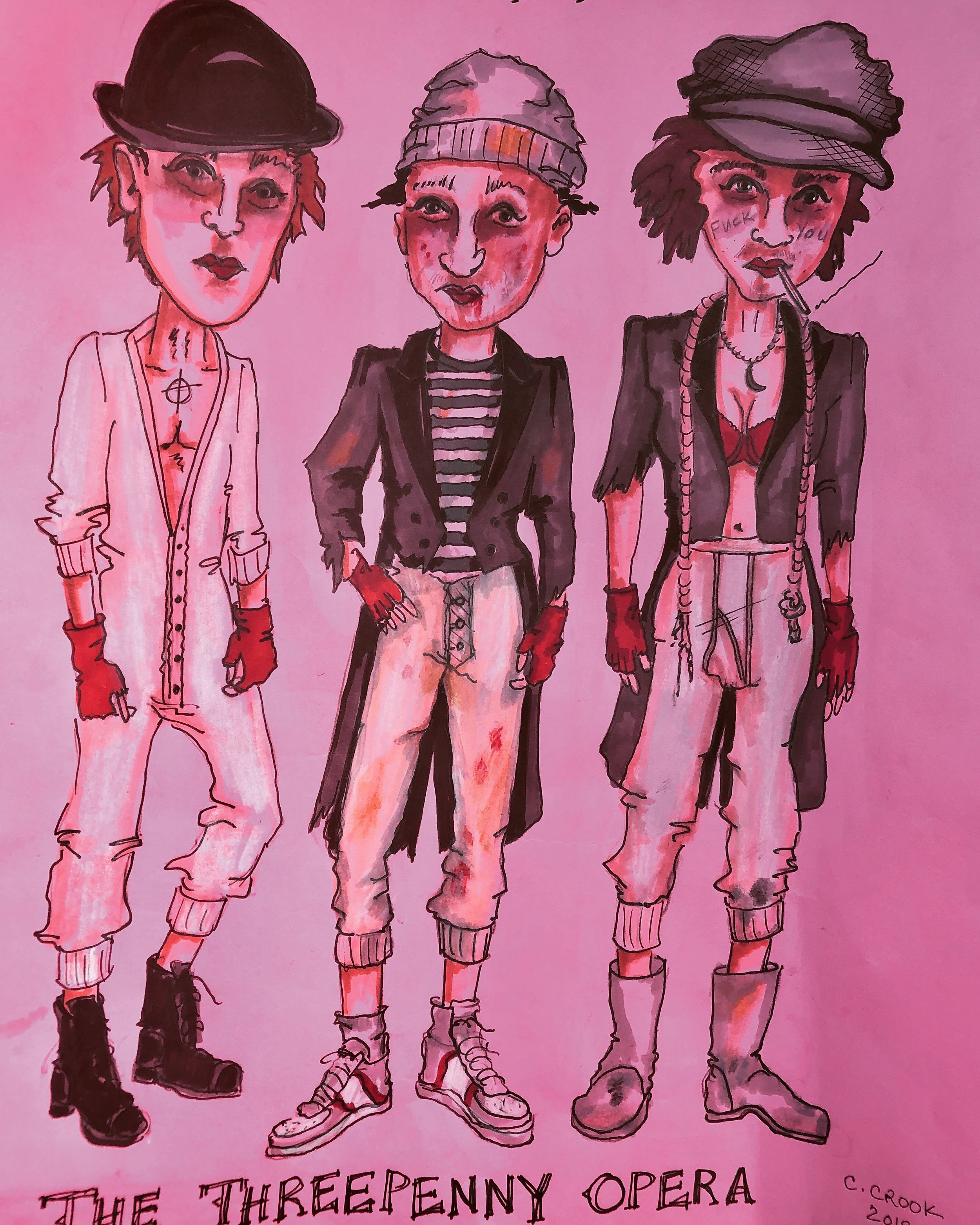 Concept rendering of Mack's gang of thugs