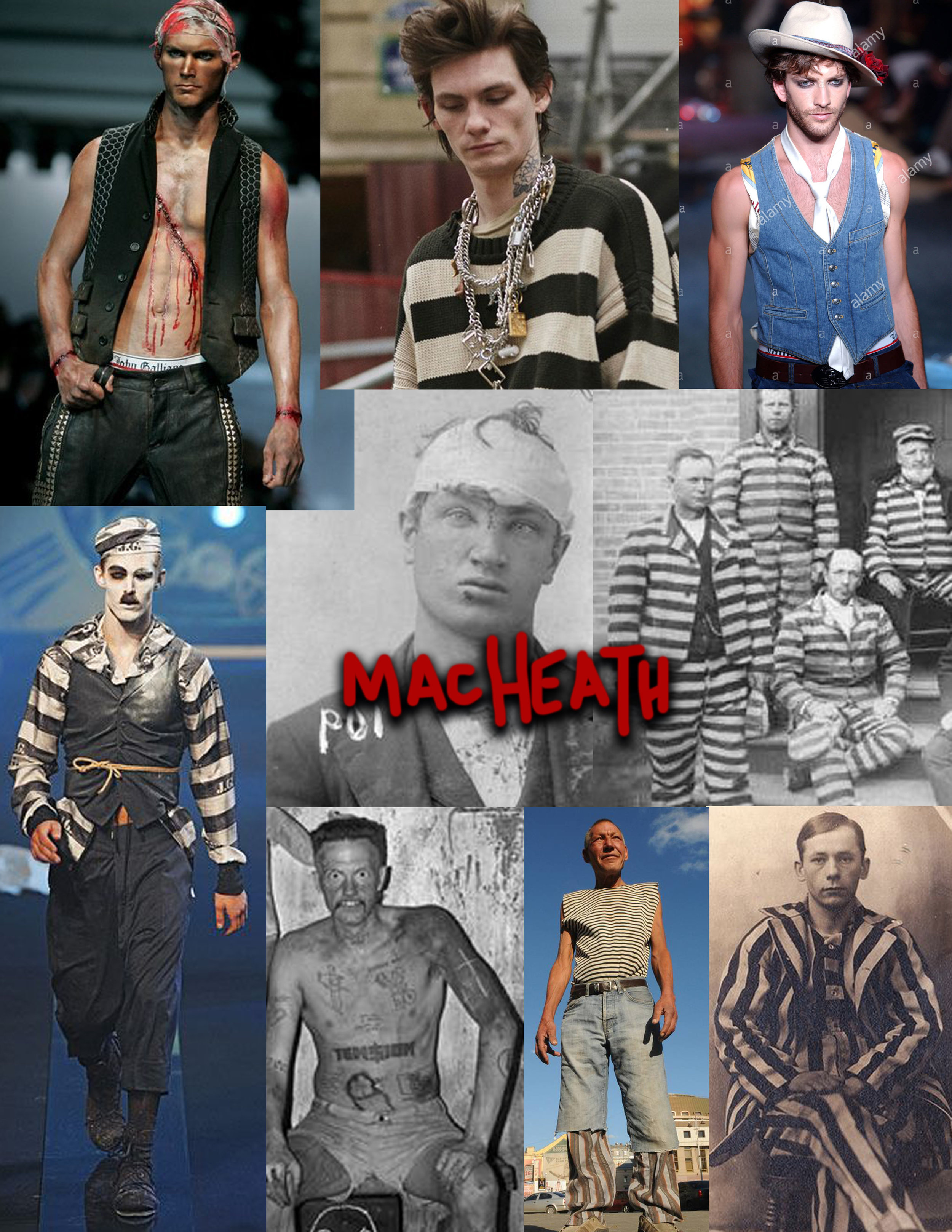 Inspiration collage for Macheath