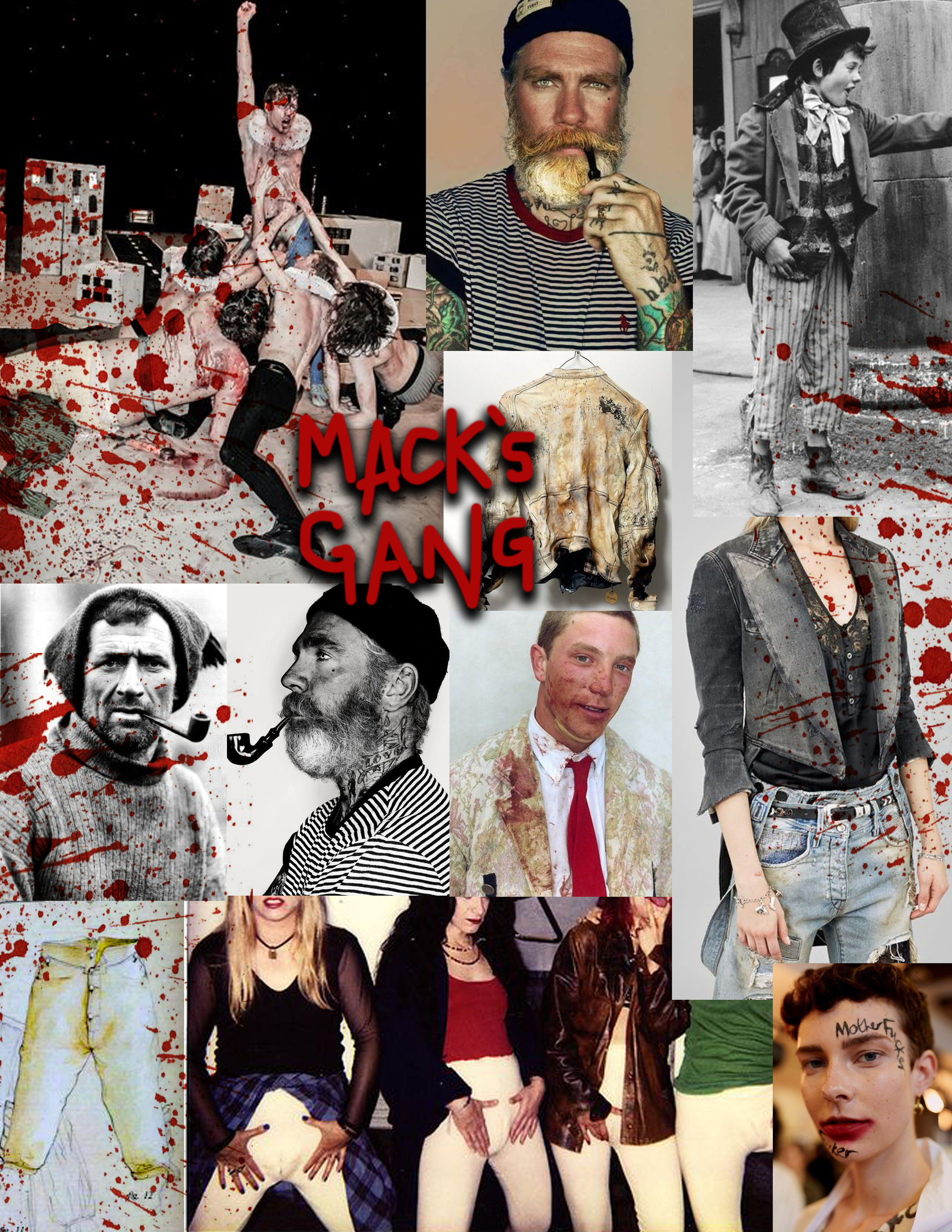 Inspiration collage for Mac's gang