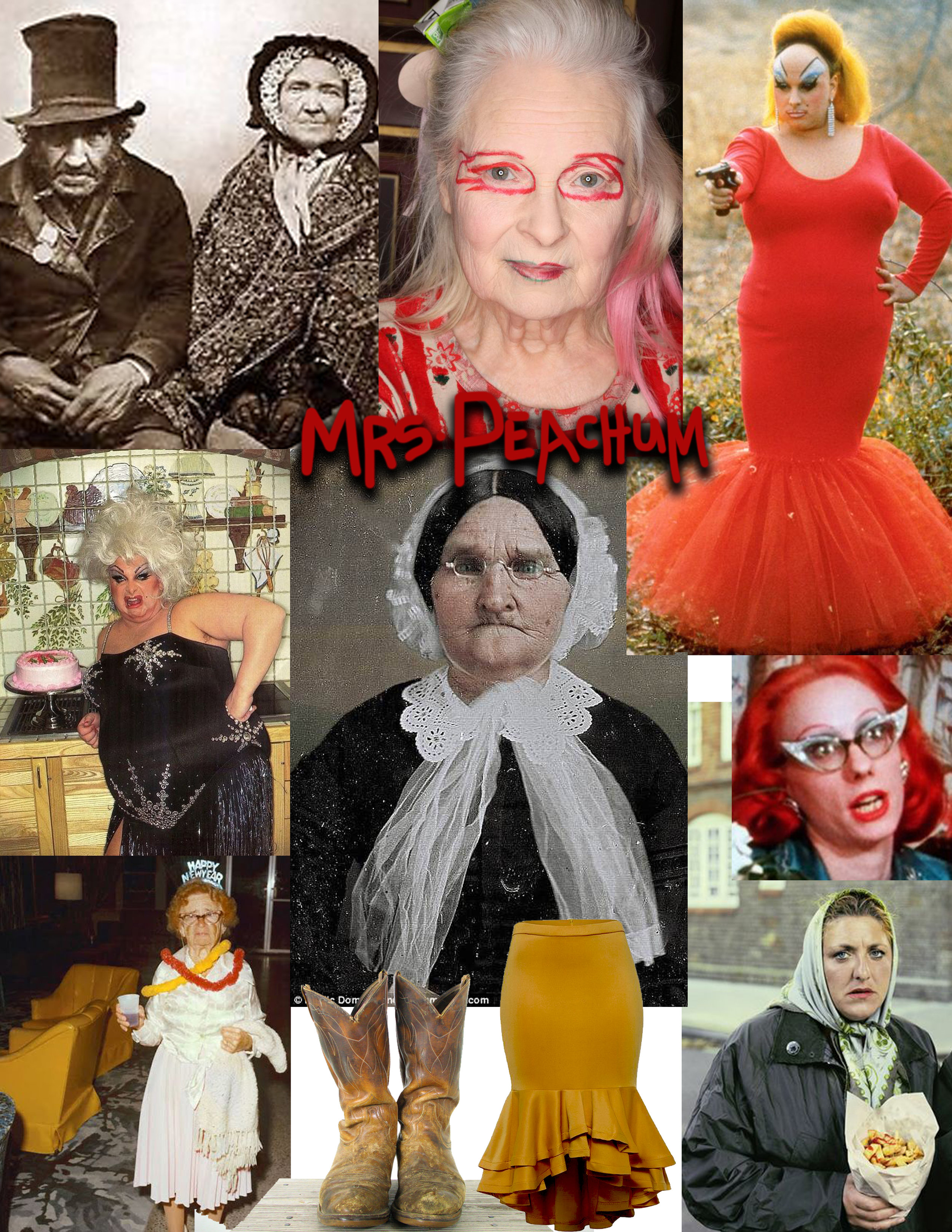 Inspiration collage for Mrs. Peachum