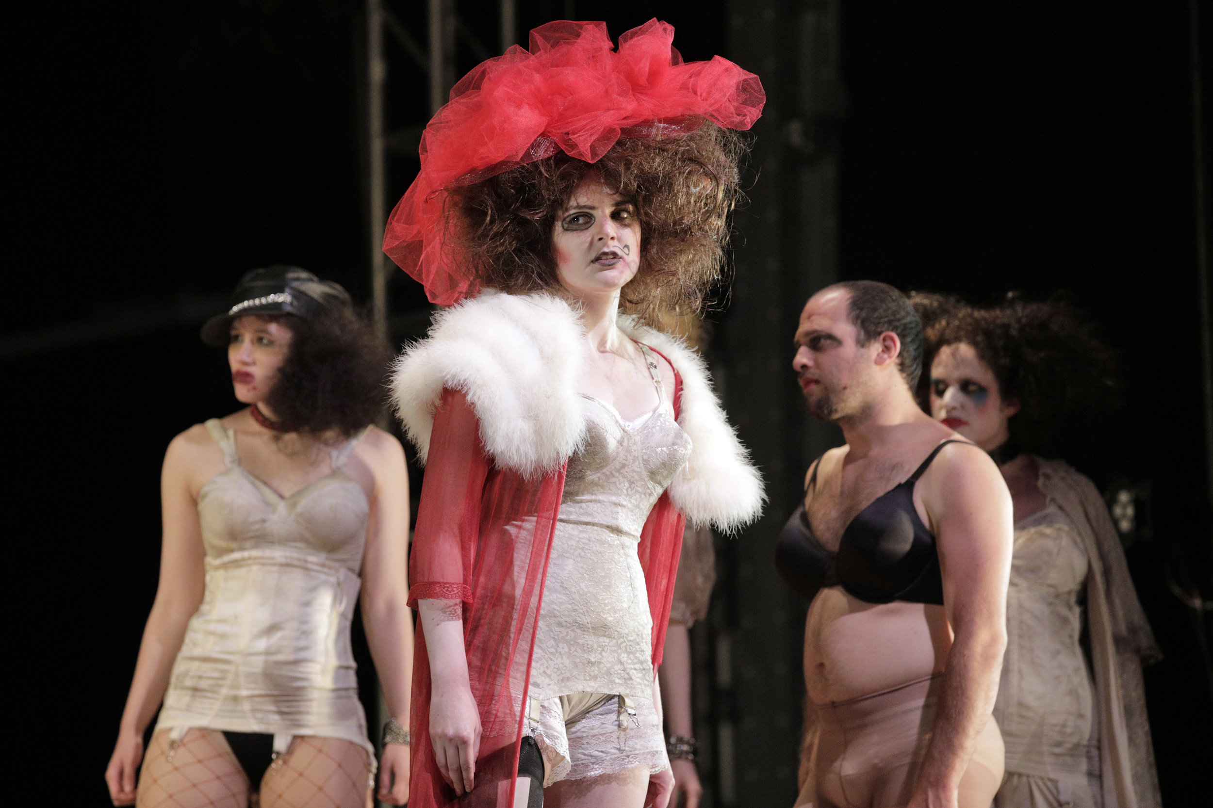 Jenny Diver (Sarah Coit) in West Edge Opera's production of The Threepenny Opera