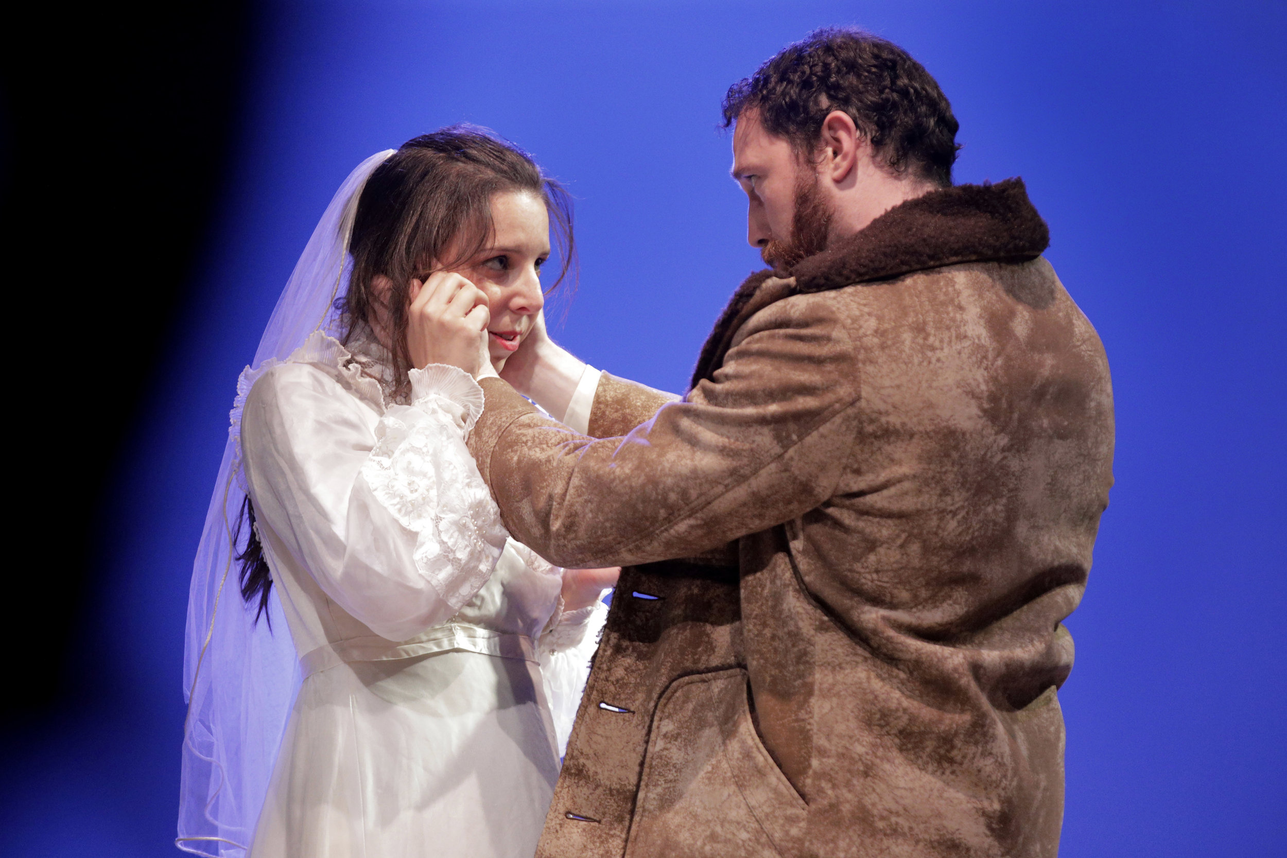 Sara LeMesh and Robert Wesley Mason in West Edge Opera's production of Breaking the Waves