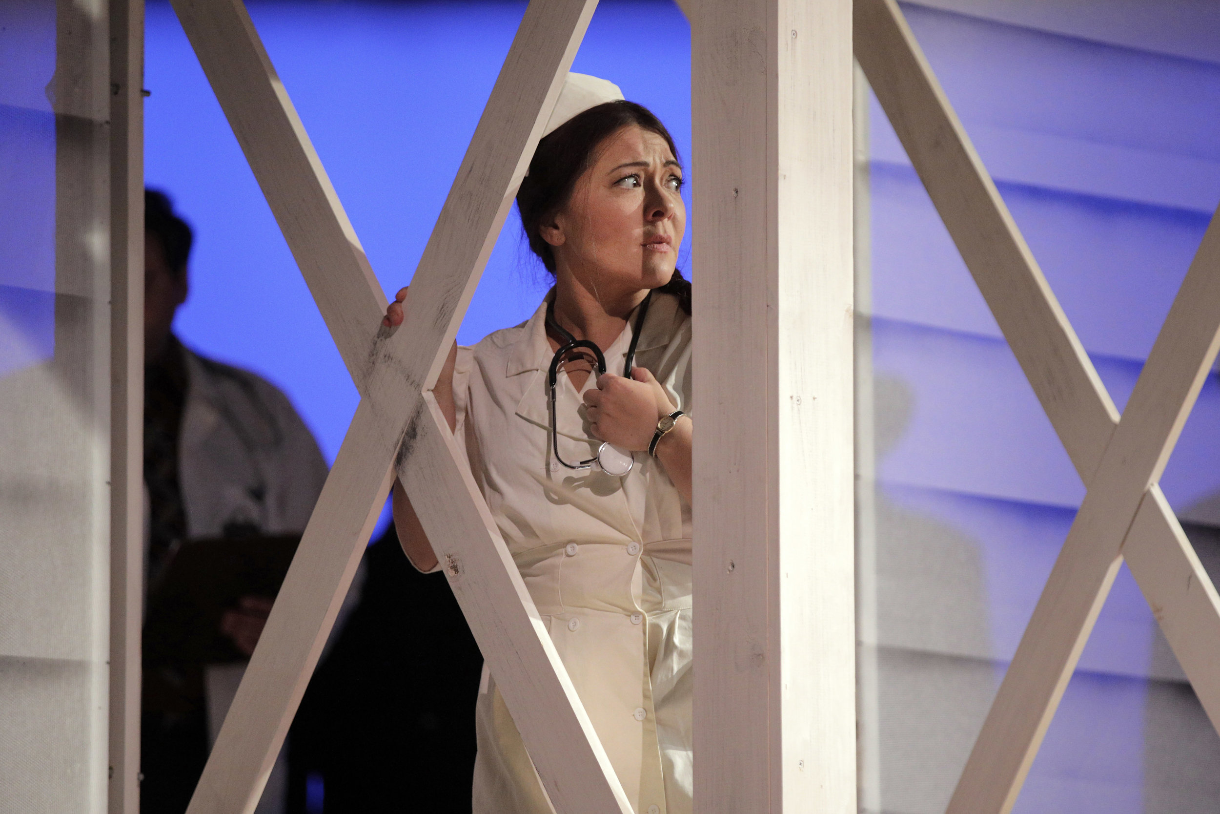 Dodo McNeill (Kindra Scharich) in West Edge Opera's production of Breaking the Waves