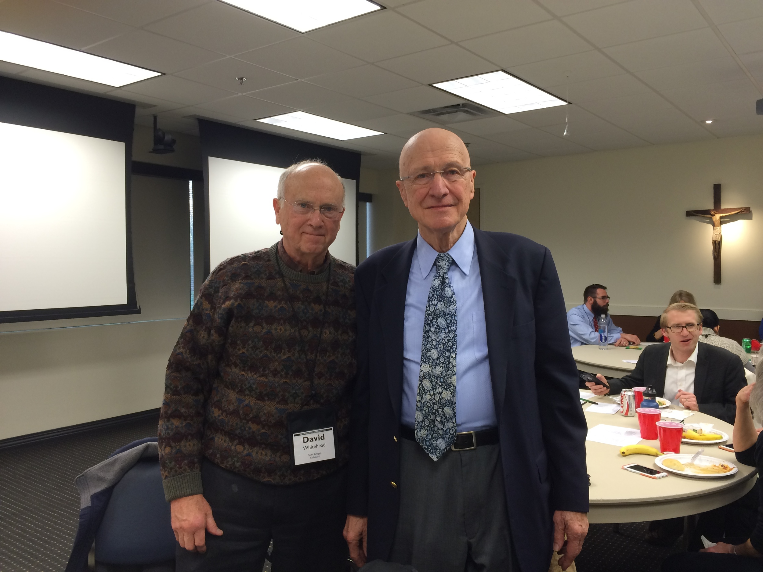 David W. with Peter Kreeft (Thanks to John M.)