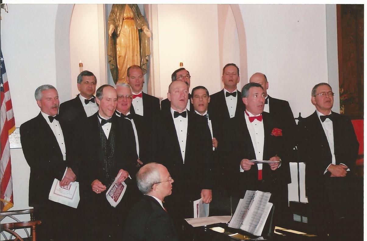 The Gentlemen of St. Bridget sing at Christmas Eve Mass (thanks to Susan and Wayne S.)