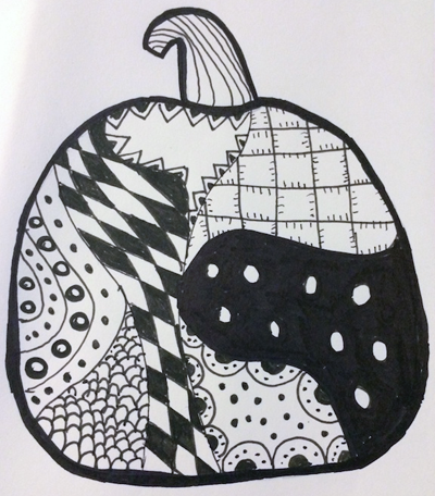 Pumpkin Zentangle by Melissa Black