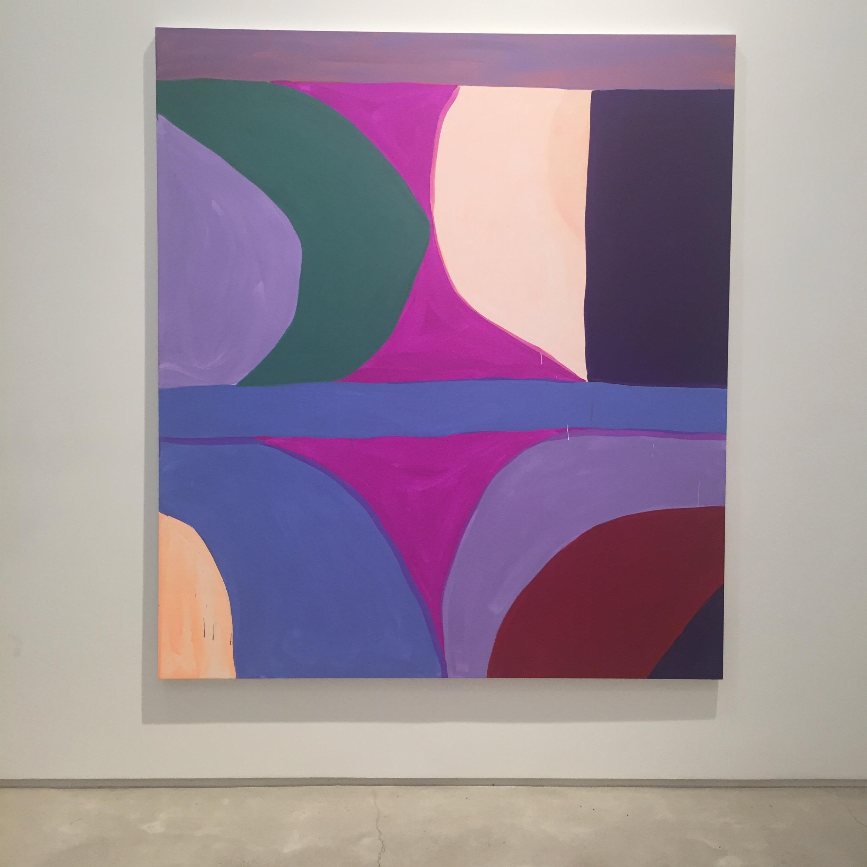 Marina Adams,Second Sun, 2016, Acrylic on linen, 88 × 78 inches