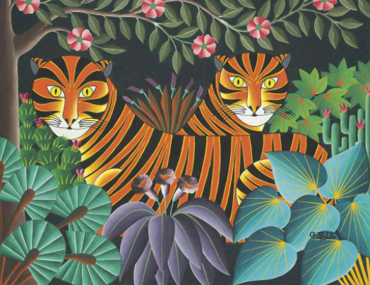 Gabriel Alix, Les Tigres, Oil on canvas, 20 x 24 inches