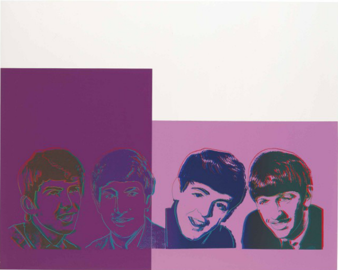 Andy Warhol, The Beatles, 1980, Christie's, Estimate: $70,000 – 100,000