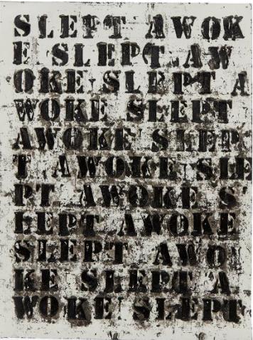 Glenn Ligon, (Miserable) Life #17, 2008, Phillips, Estimate: $15,000 – 20,000