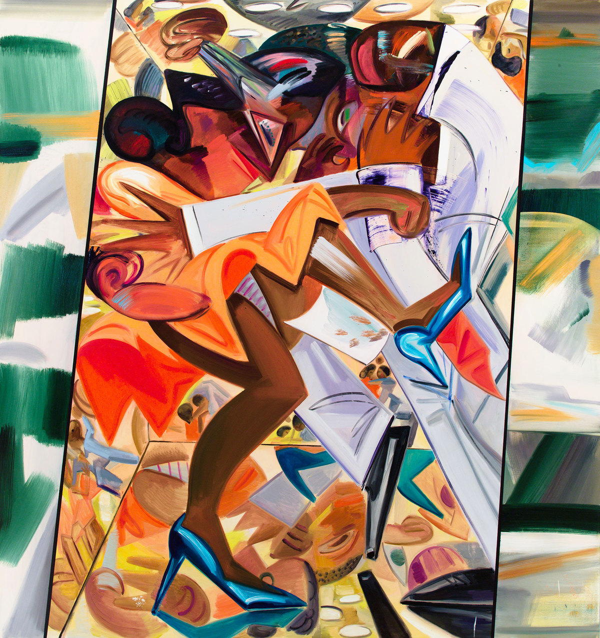 Dana Schutz, Fight in an Elevator, 2015, Whitney Biennial 2017