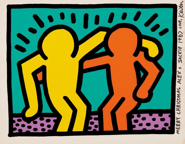 Keith Haring, Best Buddies, from Pop Shop I, 1987, Estimate: $4,000 - 6,000