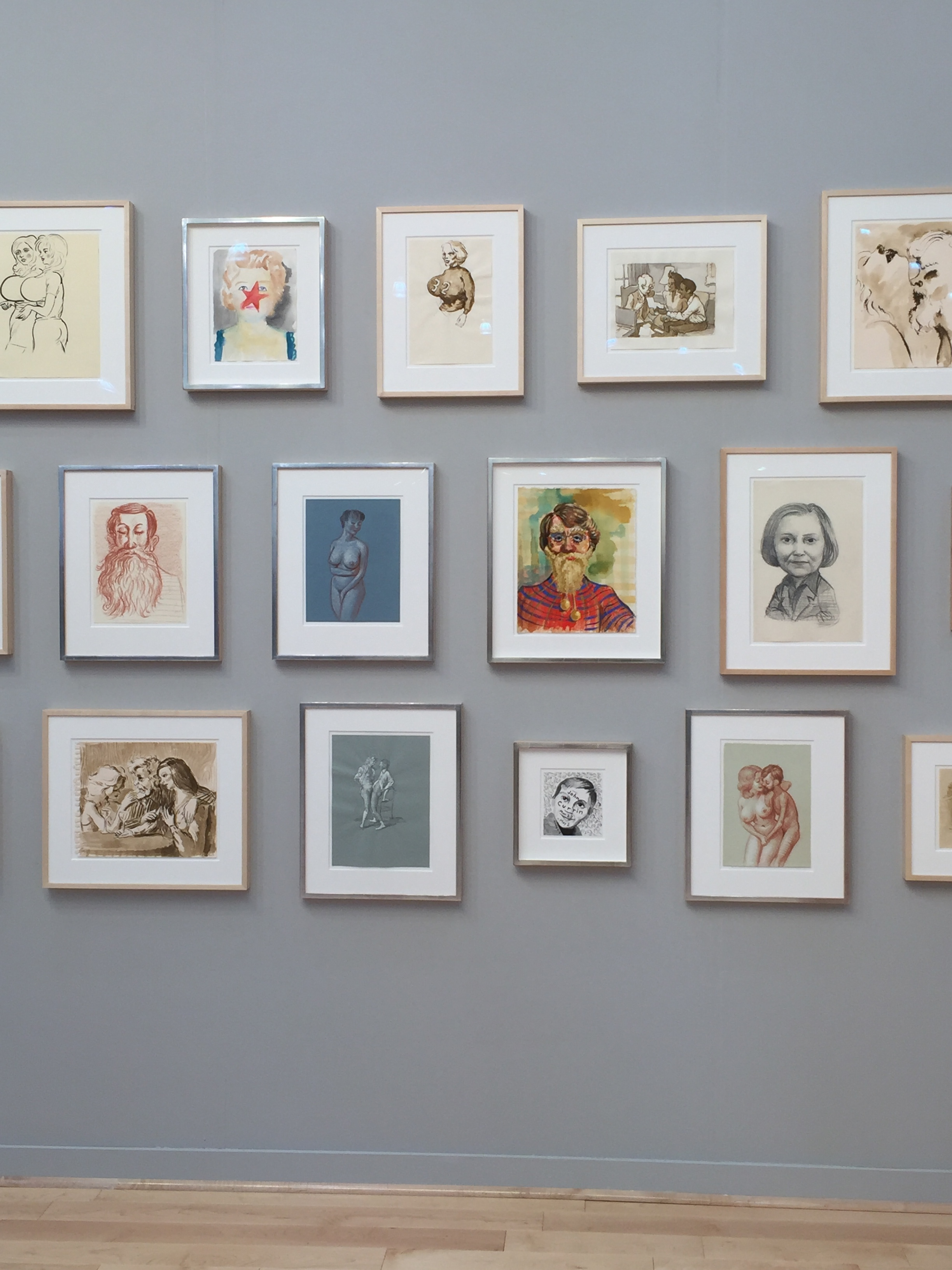 John Currin Salon Wall, Exhibited by Gagosian Gallery