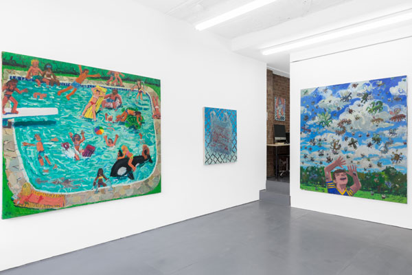 Todd Bienvenu, Water Sports, Installation view at Yours, Mine, & Ours