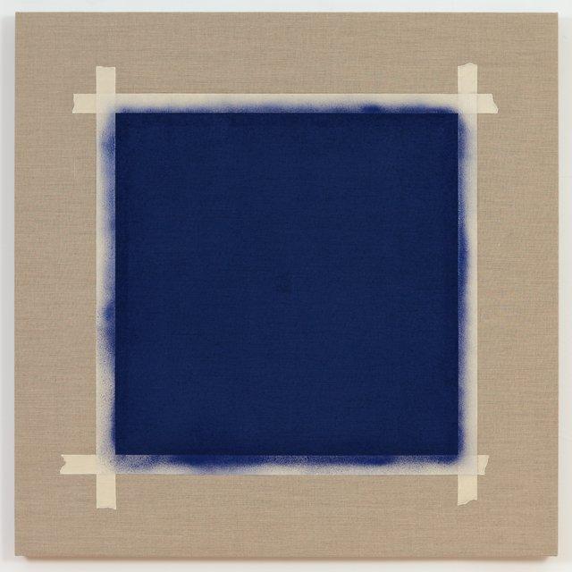 Saul Sanchez, Square with Ultramarine Blue Paint, 2016