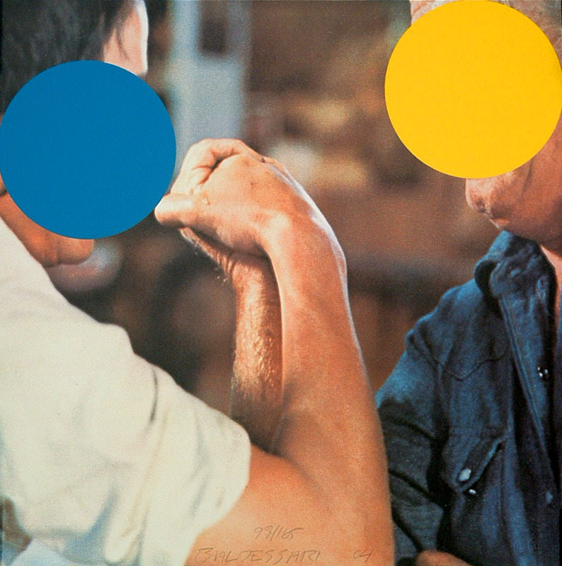 John Baldessari,Two Opponents (Blue and Yellow), 2014