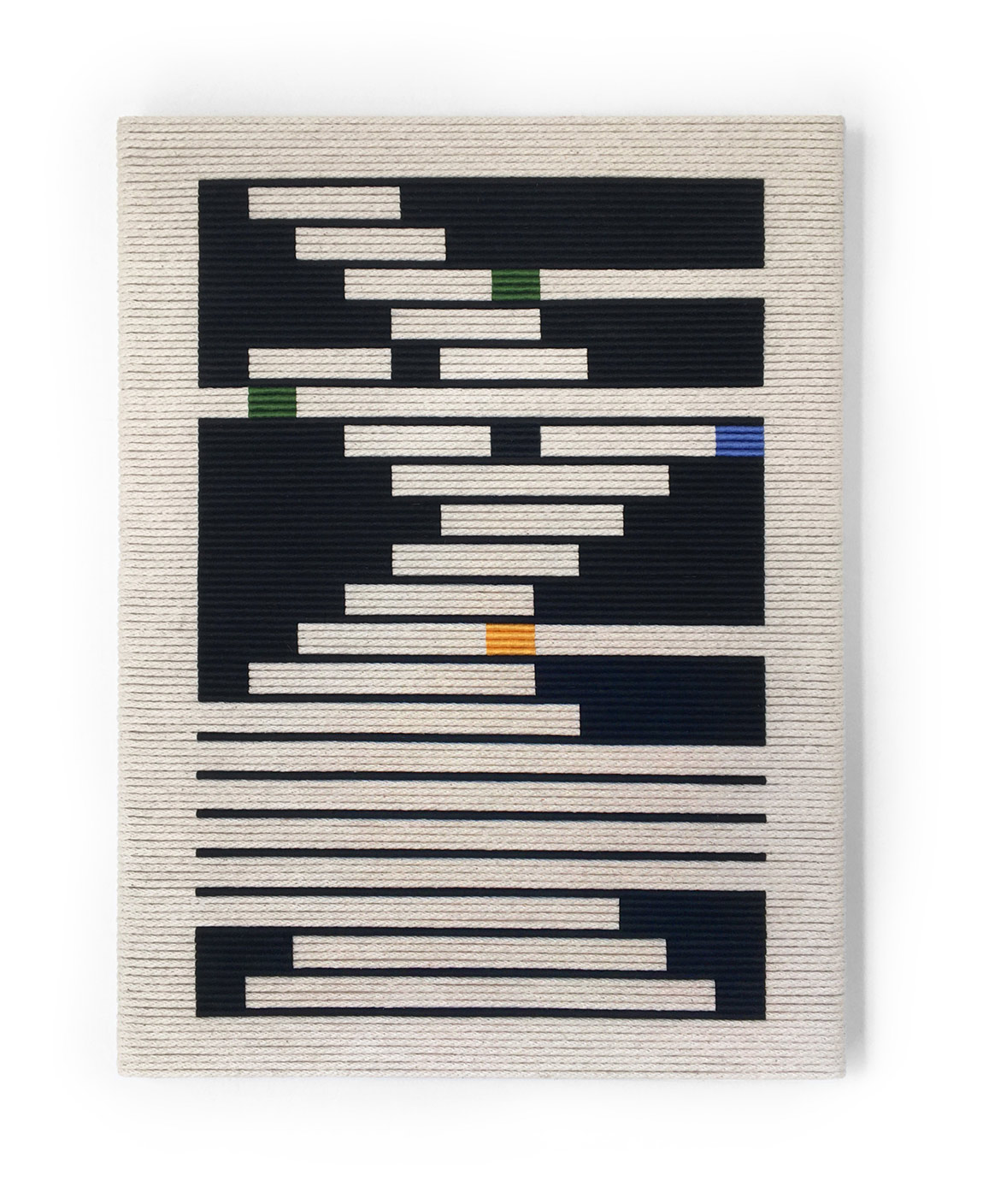 Senem Oezdogan, Momentum II, 2015, Wood, rope, and cotton, 24 x 18 inches  Courtesy of the artist and Uprise Art, New York