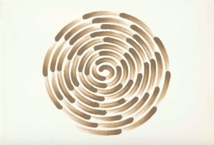 Richard Long,Mud Finger Spiral, Estimate $4,000 - 6,000