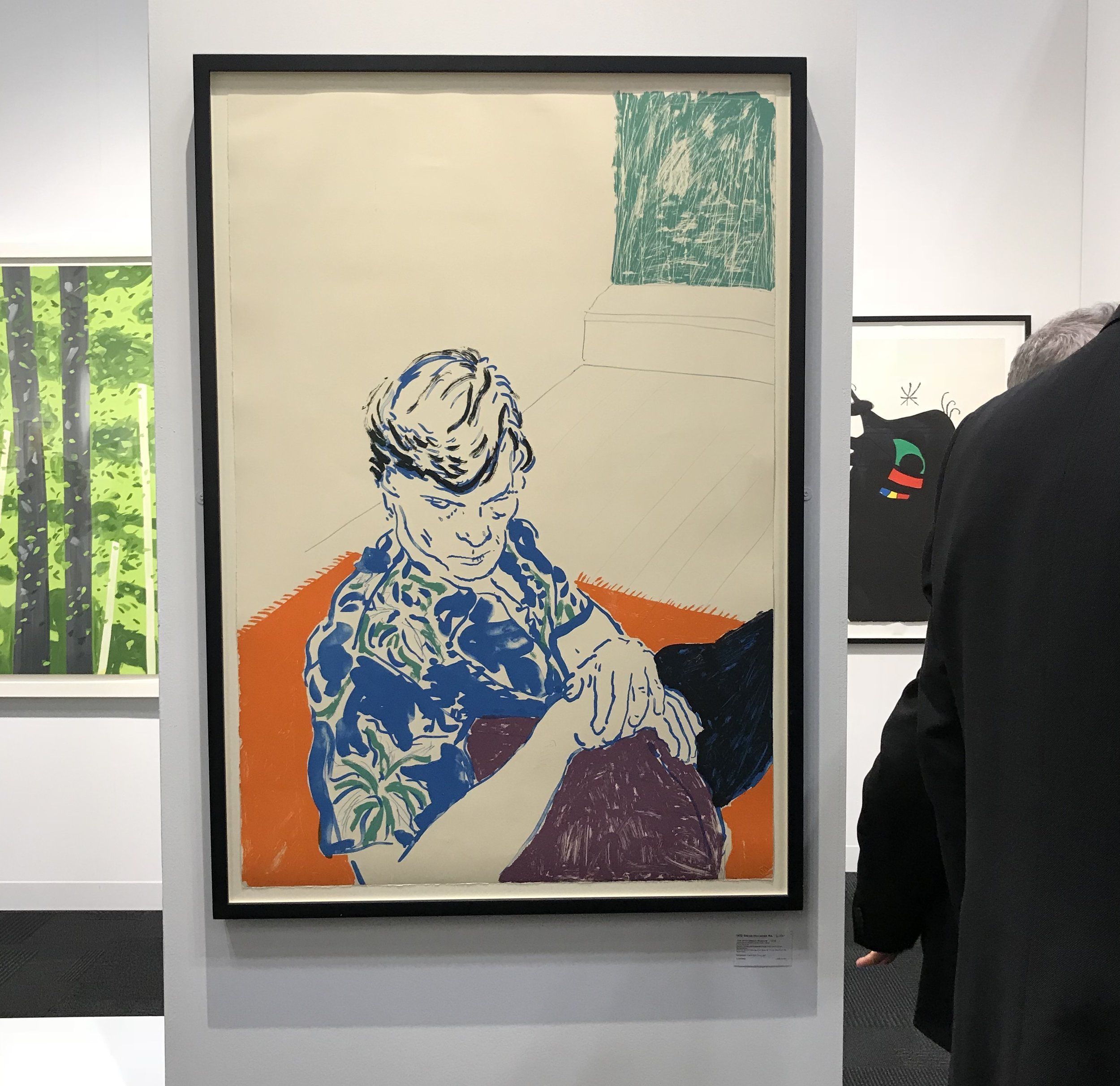 David Hockney exhibited by The Redfern Gallery