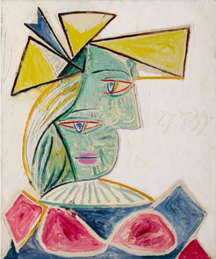 Pablo Picasso,Buste de Femme Au Chapeau, 1939 at Sotheby's Evening Sale