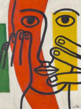 Fernand Leger,Tête de femme (Figure II), 1948 at Christie's Day Sale