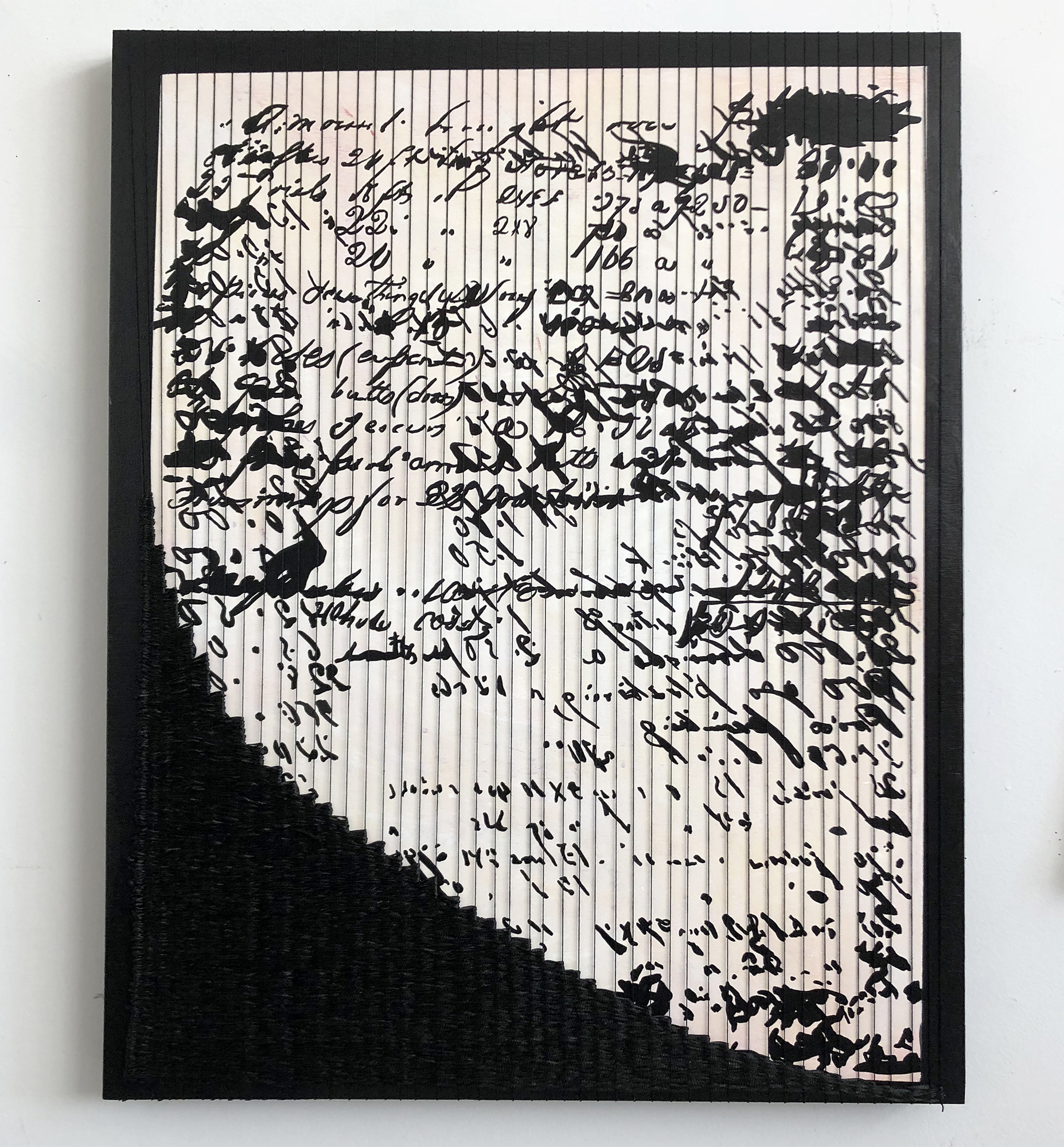 Sara Jones, Difficult to Read Because of Bleed-through, 2018