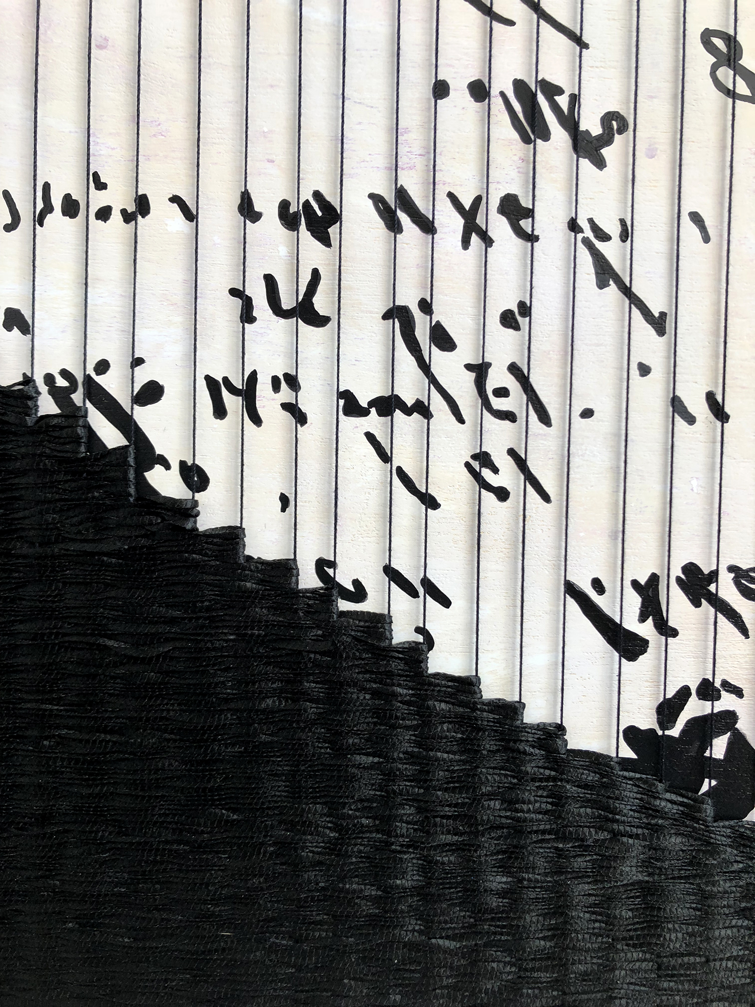 Sara Jones, Difficult to Read Because of Bleed-through, 2018 (detail)
