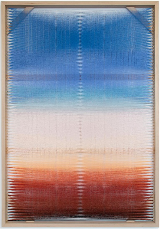 Rachel Mica Weiss, Woven Screen (Pastel Gradient), 2018