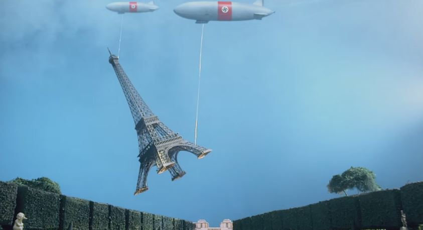 Two ZEPPELINS Swoop in to stealthe eiffel tower in Danger 5's first episode