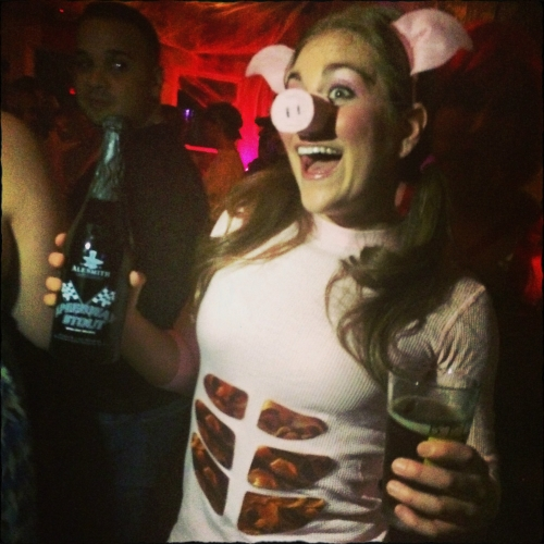 Halloween 2014; Homemade Bacon Belly Pig