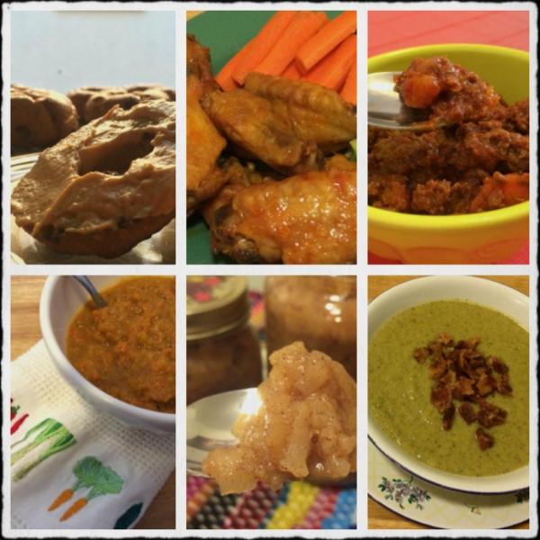 Pumpkin Cream Cheese, Buffalo Wings, Chili, Butternut Squash Soup, Applesauce, Broccoli Soup