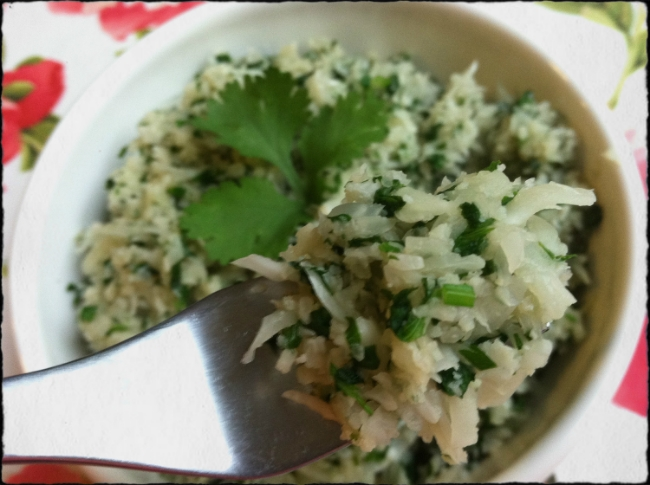 Cauliflower Cilantro 'Rice'