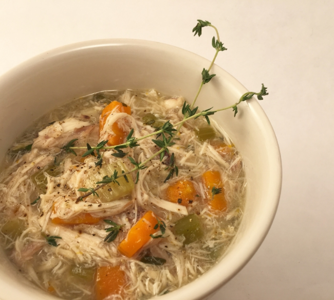Chicken Soup Bowl with Thyme