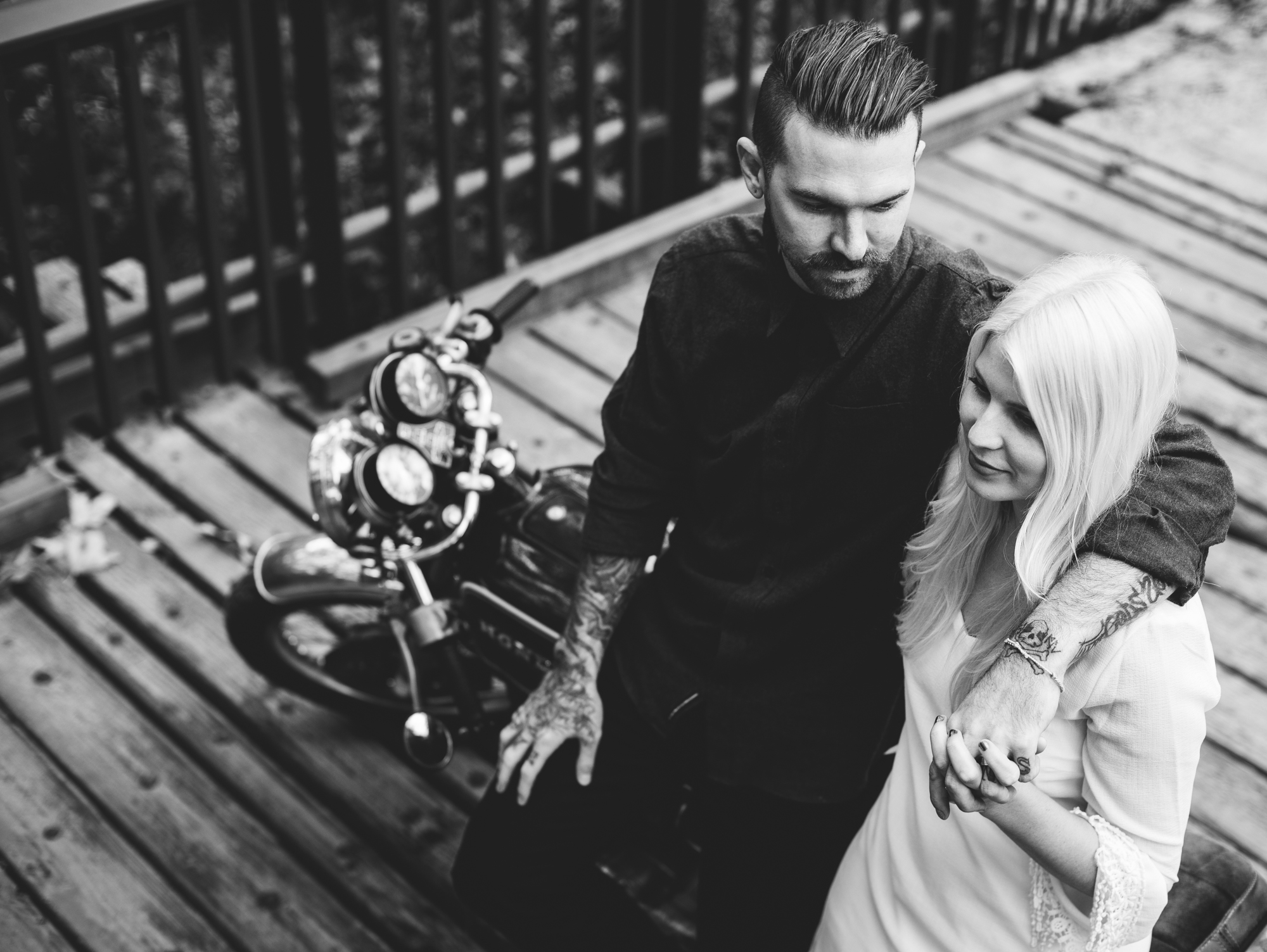 ©Isaiah & Taylor Photography - Destination Wedding Photographers - Downtown Forest Motorcycle Engagement -030.jpg