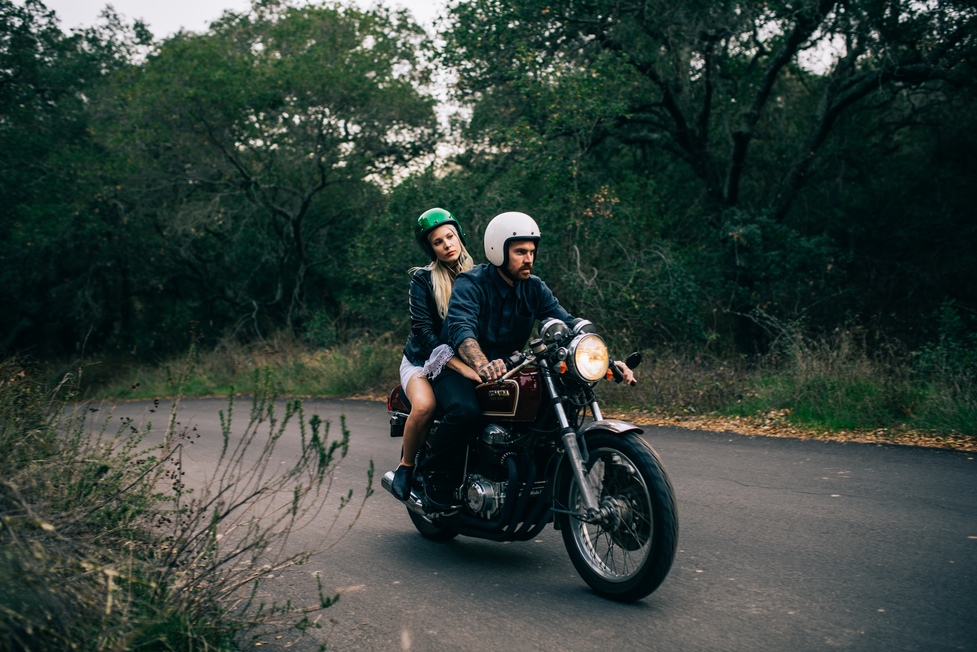 ©Isaiah & Taylor Photography - Destination Wedding Photographers - Downtown Forest Motorcycle Engagement -034.jpg