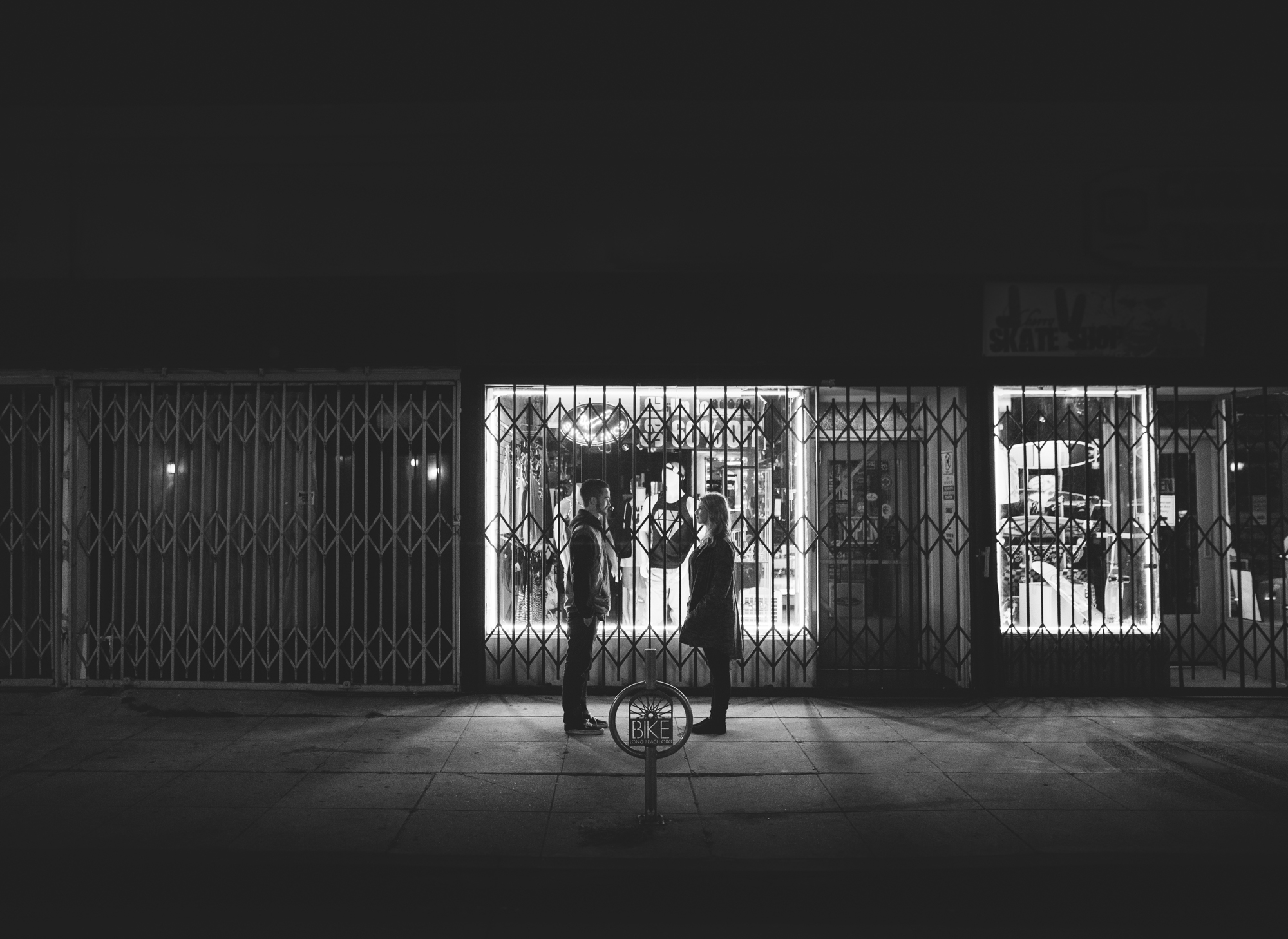 ©Isaiah & Taylor Photography - Los Angeles Engagement - Night Walk-007.jpg