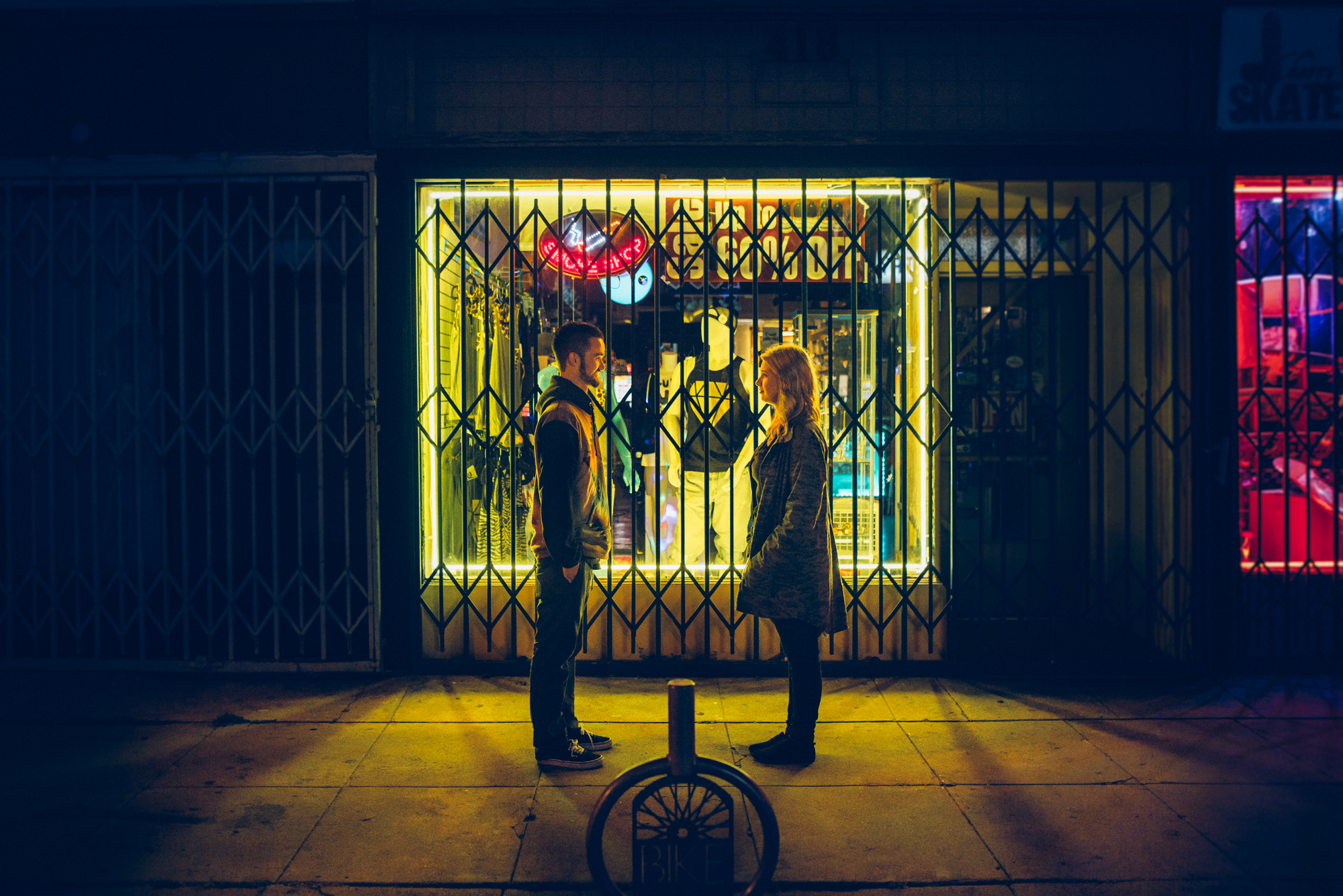 ©Isaiah & Taylor Photography - Los Angeles Engagement - Night Walk-006.jpg
